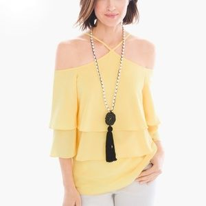 Chico's Cold Shoulder Blouse